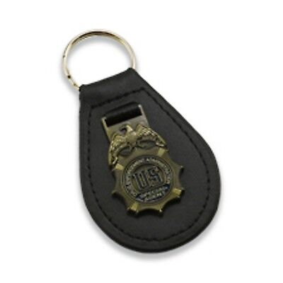 DEA LEATHER KEY TAG Special Agent Badge + 1 Free DEA Sticker!