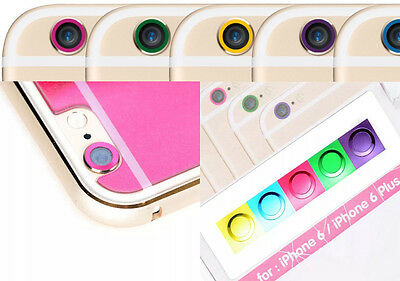 Electroplanting 5 color lens Circle case protector protective sticker for iphone