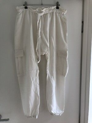 Seed Women's White Tencel Harem Pants Size 12 Excellent Condition - As New!