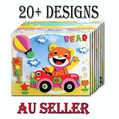 Bulk Lot 20 Pack Kids 3D Eva Sticker Craft DIY Art Kit Party Favor Novelty Toy
