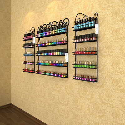 Multi-combination Nail Polish Display Wall Mount Rack Metal Organizer up to 180+