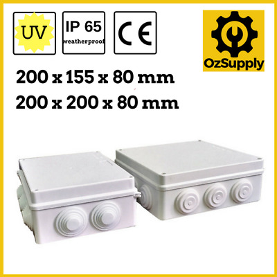 Waterproof Electrical Junction Box- Various Sizes, IP65, Plastic Electrical Box