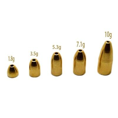 Copper Bullet Sinker Weight Fast Sinking for Texas Rig Bass Fishing Accessory