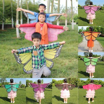 Kids Butterfly/Bat Wing Shawl Stole Scarf Wrap Dress Cloak Costume Party Gifts