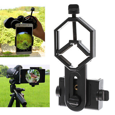 Microscope Binocular Monocular Holder Clamp Clip Mount Stand for Smart Phone USA