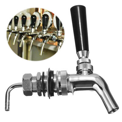 Free Shipping Homebrew Chrome Faucet Tap For Kegerator Home Brew Keg Draft Beer