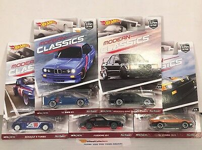Modern Classics 5 Car Set * Car Culture 2017 Hot Wheels Mercedes, Honda, BMW