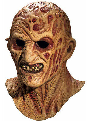 Deluxe Freddy Krueger Fancy Dress Costume Accessory Halloween Overhead Mask New