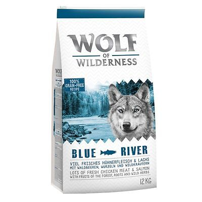 """Wolf of Wilderness Adult """"Blue River"""" - Salmon 12kg. 24kg"""
