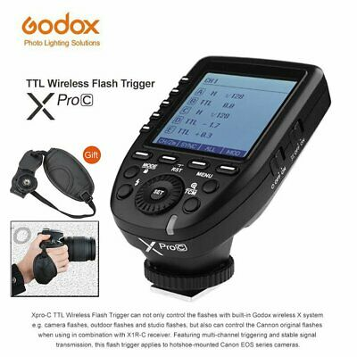 Newest Godox XPro-C 2.4G E-TTL Wireless Flash Trigger For Canon EOS Cameras