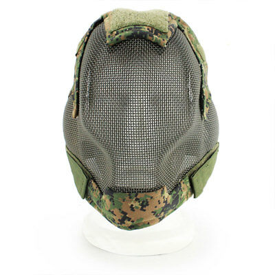 Military Tactical Face Masks Protection Mask Steel Paintball Accessories