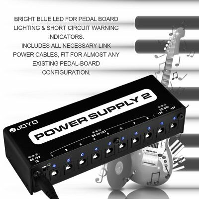 JP-02 Power Supply Guitar Pedal Device 10 Isolated Outputs & 3 Power Options PR