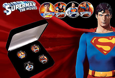 SUPERMAN - Christopher Reeve The Movies Quarters Coin Set with COA