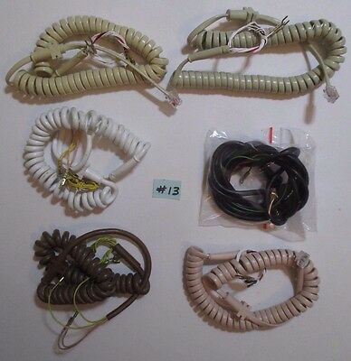 6  Assorted Telephone Items Handset Cords 1981-87  6 colours  New Old Stock  #13