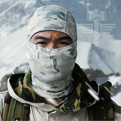 Hood Mask Paintball Camouflage Veil Mesh Breathable Scarf Full Face Multicam