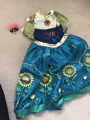 Anna Frozen Fancy Dress Up Costume Girls Age 5-6