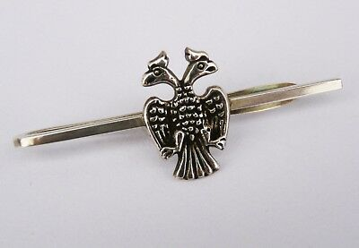 Antique tie pin 925 silver-  Russian Imperial eagle design- High quality.