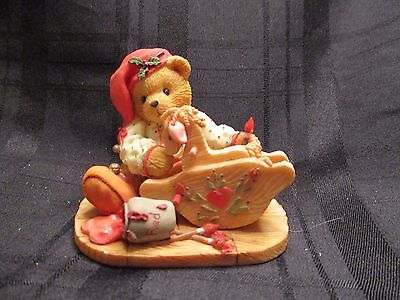 Cherished Teddies GINGER Painting Holiday w Love Figurine ELF Painting Horse