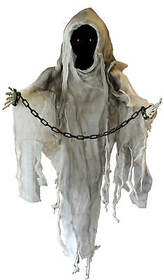 90Cm Hanging Ghost Light Up Moving With Sound Halloween Decoration Party Prop
