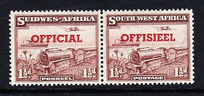 S.W.A. 1951 1½d PURPLE-BROWN WITH TRANSPOSED OVERPRINT SG O25a MINT.