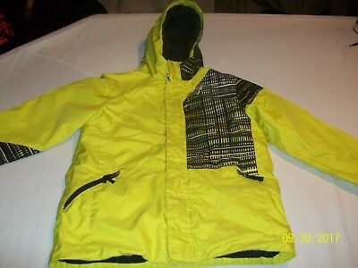 Spyder Hooded Jacket Yellow & Black With Thinsulate - Waterproof Youth Size 14