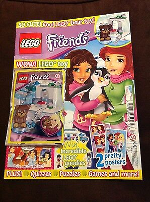 Lego Friends Issue 33 + Lego Bear Toy Set Posters Puzzles Craft Ideas & More