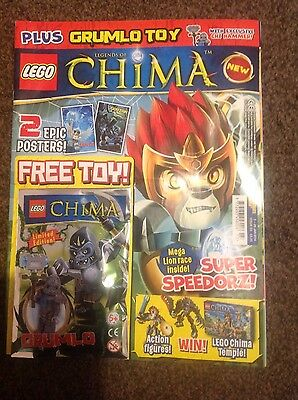 Lego Legends of Chima magazine comic Issue #3 Limited Edition Grumlo Toy