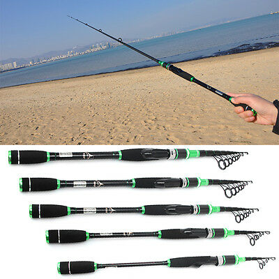 Smart Spinning Fishing Rod 1.8m 3.0m Portable Telescopic Rods Carbon Pole New