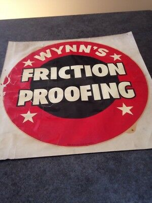 """Large Wynn's Friction Proofing 14"""" Inch Water Decal Vitachrome Inc Los Angeles"""