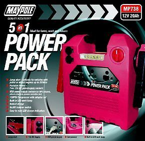 MAYPOLE 5 IN 1 12V 20Ah POWER PACK *BRAND NEW IN STOCK*