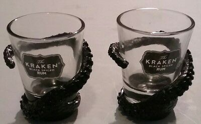2 kraken Rum Tentacle Shot Glasses