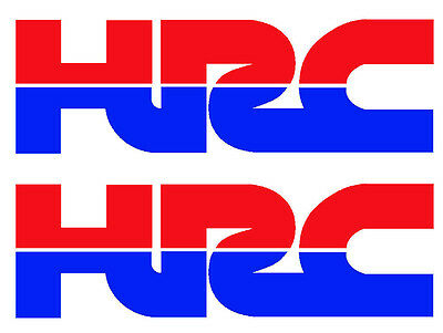 Hrc Honda Racing Decals -  Vinyl Badges - X2 - Two Hrc Vinyl Stickers Red & Blue
