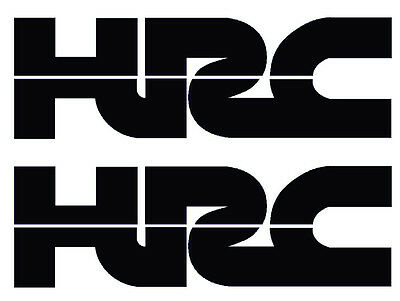 Hrc Honda Racing Vinyl Decals In Black - Two Hrc Decals Stickers X2 Honda Racing