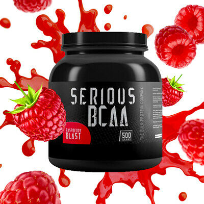 Serious BCAA Powder Intra Workout Pure Amino Acids 500g 100 Servings - Berry