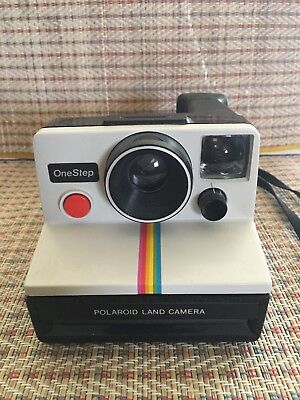 Polaroid One Step Rainbow Instant Land Camera SX-70 Vintage Untested As Is
