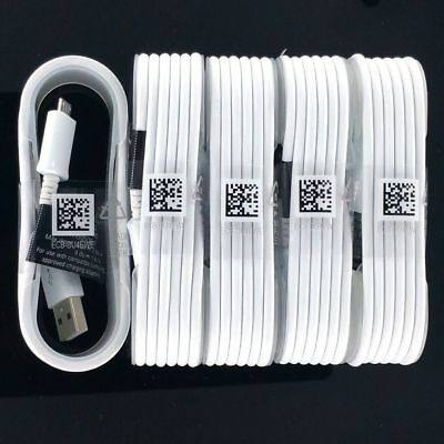 5x OEM Fast Rapid Charger Cable 5FT Samsung Galaxy Note 2 4 5 S6 S7 Edge white