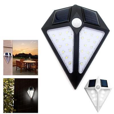 Solar Powered Wall 24 LED Light Outdoor Garden Path Landscape Fence Yard Lamp^PK