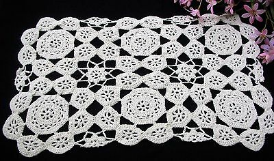 Set 10 Country Living Ivory Crochet Placemats Modern Countryside Pattern 10 x 17