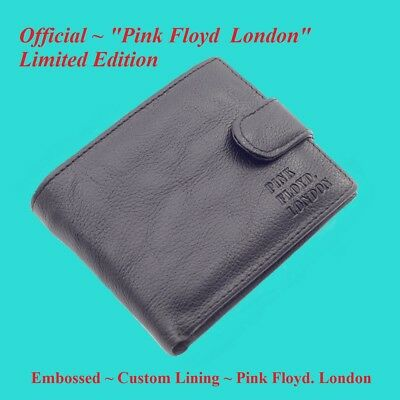 """Official ~ """" Pink Floyd London """" ~ Embossed Leather Wallet ~ Limited Edition"""