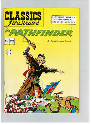 CLASSICS ILLUSTRATED COMIC No. 22 The Pathfinder HRN 126 SUPERB COPY!
