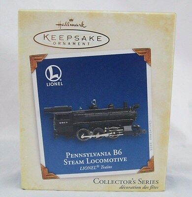 Hallmark Ornament Lionel Pennsylvania B6 steam Locomotive - 2005