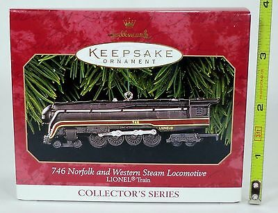 Hallmark Keepsake Ornament 746 Norfolk and Western Steam Locomotive LIONEL Train