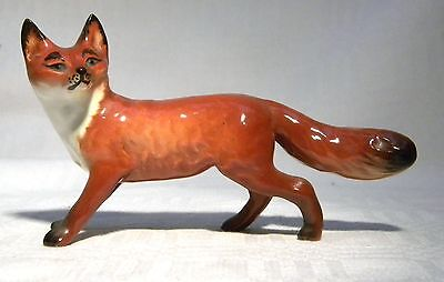 Beswick Standing Fox 1440 Early Black Tip Tail  1956-1967