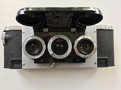 Vintage David White Stereo Realist 3d Stereoscopic Camera w/ leather case/pouch