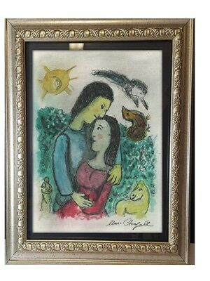 Marc Chagall  , ink and gouache painting signed on paper