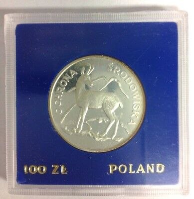 Poland 100 Zlotych Proof Silver Chamois 1979 Y#105