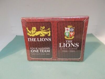 British And Irish Lions 2005 Playing Cards in sealed packaging