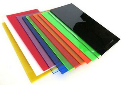 Colour Perspex Acrylic Sheet Plastic Material Panel Cut to Size A5 A4 A3 A2 A1