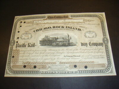 Chicago, Rock Island and Pacific Rwy, brown, 'America' loco, 1898, BEAUTY