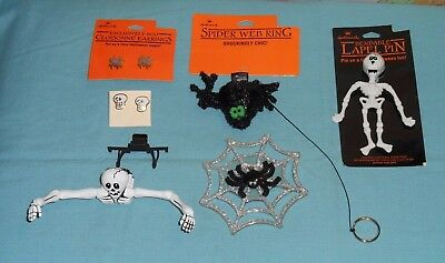 vintage Hallmark HALLOWEEN JEWELRY LOT #3 earrings pins ring
